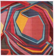 Duet Teppich  225X225 Moderner Quadratisch Rost/Rot/Schwartz ( Türkei)