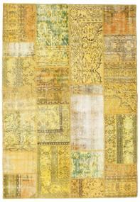 Patchwork Teppich  162X235 Echter Moderner Handgeknüpfter Gelb/Olivgrün (Wolle, Türkei)