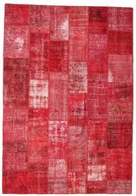 Patchwork Teppich  201X295 Echter Moderner Handgeknüpfter Rot/Rosa/Rost/Rot (Wolle, Türkei)