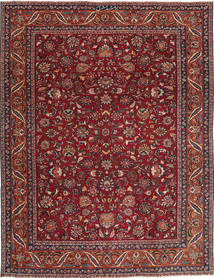Maschad Patina Teppich 240X325 Echter Orientalischer Handgeknüpfter Dunkelrot/Dunkelgrau (Wolle, Persien/Iran)