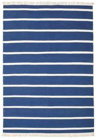Dorri Stripe - Dunkelblau Teppich  160X230 Echter Moderner Handgewebter Dunkelblau/Blau (Wolle, Indien)