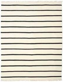 Dorri Stripe - Weiß/Schwarz Teppich  200X250 Echter Moderner Handgewebter Beige/Weiß/Creme (Wolle, Indien)