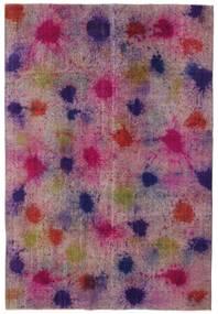 Colored Vintage Teppich  196X290 Echter Moderner Handgeknüpfter Rosa/Lila (Wolle, Türkei)