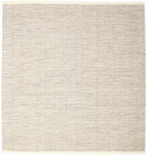 Seaby - Braun Teppich  250X250 Echter Moderner Handgewebter Quadratisch Hellgrau/Beige Großer (Wolle, Indien)