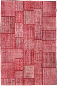 Patchwork Teppich 203X304 Echter Moderner Handgeknüpfter Rost/Rot/Rosa (Wolle, Türkei)