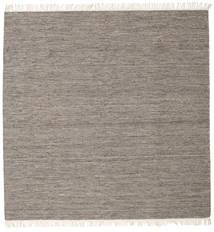 Melange - Braun Teppich  300X300 Echter Moderner Handgewebter Quadratisch Hellgrau/Dunkelgrau Großer (Wolle, Indien)