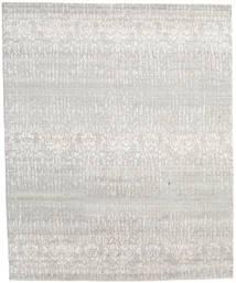Himalaya Teppich 246X301 Echter Moderner Handgeknüpfter Hellgrau/Dunkel Beige (Wolle/Bambus-Seide, Indien)