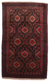 Belutsch Teppich  102X190 Echter Orientalischer Handgeknüpfter Dunkelbraun/Dunkelrot (Wolle, Afghanistan)