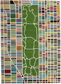 New-York/Manhattan Handtufted - Multi Teppich  200X300 Moderner Beige/Olivgrün (Wolle, Indien)