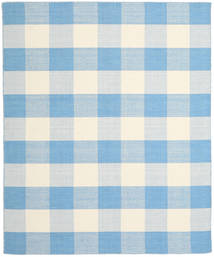 Check Kilim Teppich  240X300 Echter Moderner Handgewebter Hellblau/Beige (Wolle, Indien)