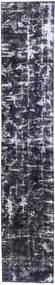 Colored Vintage Teppich 70X380 Echter Moderner Handgeknüpfter Läufer Dunkelgrau/Hellgrau (Wolle, Persien/Iran)