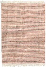 Medium Drop - Rost/Orange Mix Teppich  140X200 Echter Moderner Handgewebter Beige/Weiß/Creme (Wolle, Indien)