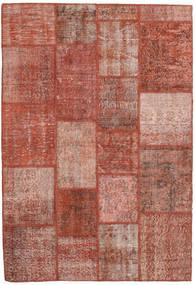 Patchwork Teppich  138X202 Echter Moderner Handgeknüpfter Dunkelrot/Hellrosa (Wolle, Türkei)