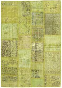 Patchwork Teppich  139X203 Echter Moderner Handgeknüpfter Hell Grün/Olivgrün (Wolle, Türkei)