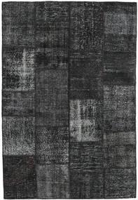 Patchwork Teppich  159X233 Echter Moderner Handgeknüpfter Schwartz/Dunkelgrau (Wolle, Türkei)