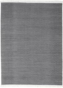 Diamond Wolle - Schwarz Teppich  210X290 Echter Moderner Handgewebter Dunkelgrau/Hellgrau (Wolle, Indien)