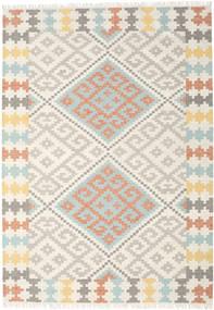 Summer Kelim Teppich  240X340 Echter Moderner Handgewebter Beige/Hellgrau (Wolle, Indien)