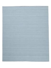 Kelim Loom - Hellblau Teppich  250X300 Echter Moderner Handgewebter Hellblau Großer (Wolle, Indien)