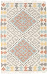Summer Kelim Teppich  120X180 Echter Moderner Handgewebter Beige/Hellgrau (Wolle, Indien)