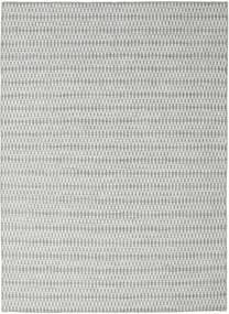 Kelim Long Stitch - Grau Teppich  210X290 Echter Moderner Handgewebter Hellgrau/Türkisblau (Wolle, Indien)