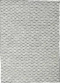 Kelim Honey Comb - Grau Teppich  210X290 Echter Moderner Handgewebter Hellgrau/Türkisblau (Wolle, Indien)