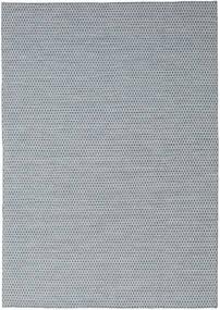 Kelim Honey Comb - Blau Teppich  240X340 Echter Moderner Handgewebter Hellgrau/Hellblau (Wolle, Indien)