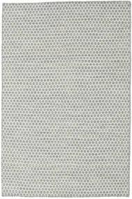 Kelim Honey Comb - Grau Teppich  120X180 Echter Moderner Handgewebter Hellgrau/Beige (Wolle, Indien)