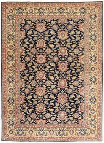 Sarough Patina Teppich 195X277 Echter Orientalischer Handgeknüpfter Dunkel Beige/Schwartz (Wolle, Persien/Iran)