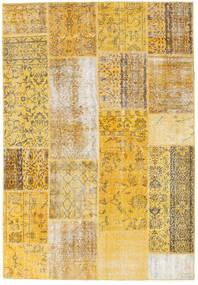Patchwork Teppich  158X230 Echter Moderner Handgeknüpfter Gelb/Beige (Wolle, Türkei)