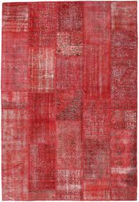 Patchwork Teppich  202X299 Echter Moderner Handgeknüpfter Rost/Rot/Dunkelrot (Wolle, Türkei)