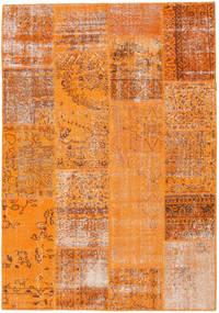 Patchwork Teppich  161X231 Echter Moderner Handgeknüpfter Orange/Hellbraun (Wolle, Türkei)