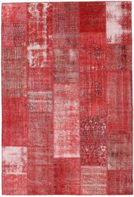 Patchwork Teppich  203X298 Echter Moderner Handgeknüpfter Dunkelrot/Rost/Rot (Wolle, Türkei)