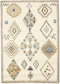 Berber Indisch - Naturweiß/Beige Teppich  160X230 Echter Moderner Handgeknüpfter Beige/Gelb (Wolle, Indien)