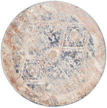 Talitha - Dusty Blau Teppich Ø 150 Moderner Rund Hellgrau/Weiß/Creme ( Türkei)