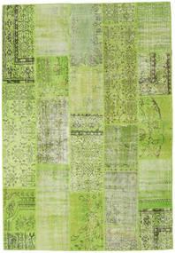 Patchwork Teppich  204X298 Echter Moderner Handgeknüpfter Hell Grün/Olivgrün (Wolle, Türkei)