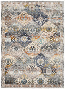 Molina - Dunkel Teppich  142X206 Moderner Hellgrau ( Türkei)