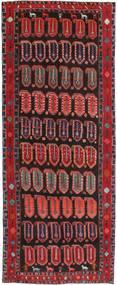 Hamadan Patina Teppich  155X395 Echter Orientalischer Handgeknüpfter Läufer Dunkelbraun/Dunkelrot (Wolle, Persien/Iran)
