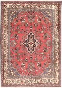 Hamadan Patina Teppich 203X298 Echter Orientalischer Handgeknüpfter Hellrosa/Dunkelrot (Wolle, Persien/Iran)