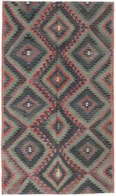 Kelim Türkei Teppich  171X295 Echter Orientalischer Handgewebter Dunkelgrau/Schwartz (Wolle, Türkei)