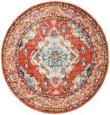 Leia - Orange Teppich  Ø 200 Moderner Rund Hellbraun/Rot ( Türkei)