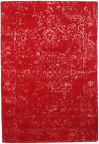 Orient Express - Rot Teppich 140X200 Echter Moderner Handgeknüpfter Rot (Wolle/Bambus-Seide, Indien)
