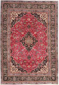 Maschad Patina Teppich 195X278 Echter Orientalischer Handgeknüpfter Dunkelrot/Rost/Rot (Wolle, Persien/Iran)