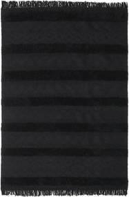 Kelim Berber Ibiza - Kohlschwarz Teppich  200X300 Echter Moderner Handgewebter Schwartz (Wolle, Indien)