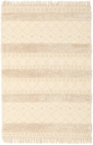 Kelim Berber Ibiza - Natural Teppich  140X200 Echter Moderner Handgewebter Beige/Hellrosa (Wolle, Indien)