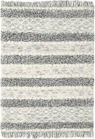Kelim Berber Ibiza - Schwarz Und Weiß Mix Teppich  160X230 Echter Moderner Handgewebter Hellgrau/Dunkel Beige (Wolle, Indien)