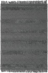 Kelim Berber Ibiza - Sanftes Grau Teppich  160X230 Echter Moderner Handgewebter Schwartz/Dunkelgrau (Wolle, Indien)