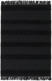 Kelim Berber Ibiza - Kohlschwarz Teppich  160X230 Echter Moderner Handgewebter Dunkelgrau (Wolle, Indien)