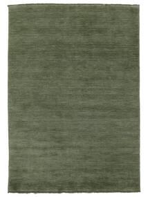 Handloom Fringes - Waldgrün Teppich  160X230 Moderner Dunkelgrün/Dunkelgrün (Wolle, Indien)