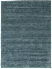 Handloom Fringes - Petrolblau Teppich  160X230 Moderner Blau (Wolle, Indien)