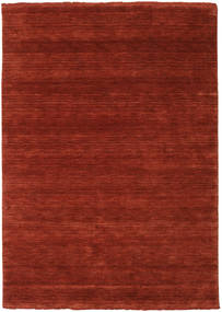 Handloom Fringes - Rostrot Teppich  140X200 Moderner Rost/Rot/Rot/Dunkelrot (Wolle, Indien)